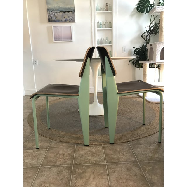 Industrial Modern Industry West Prouvé Style Dining Chairs - a Pair For Sale - Image 3 of 7