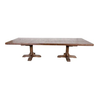 20th Century French Country Oak Farmhouse Table For Sale