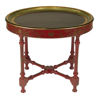 19th-C. Painted Tray on Custom Base For Sale