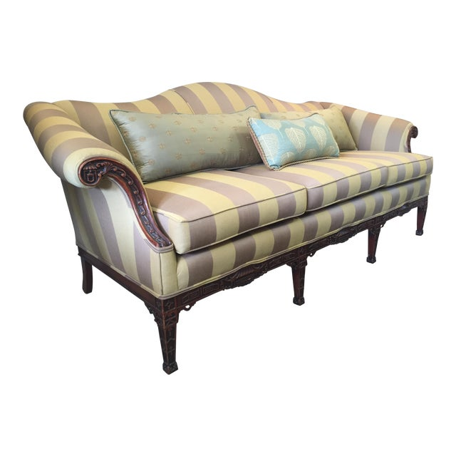 1920's Baker Chippendale Sofa For Sale