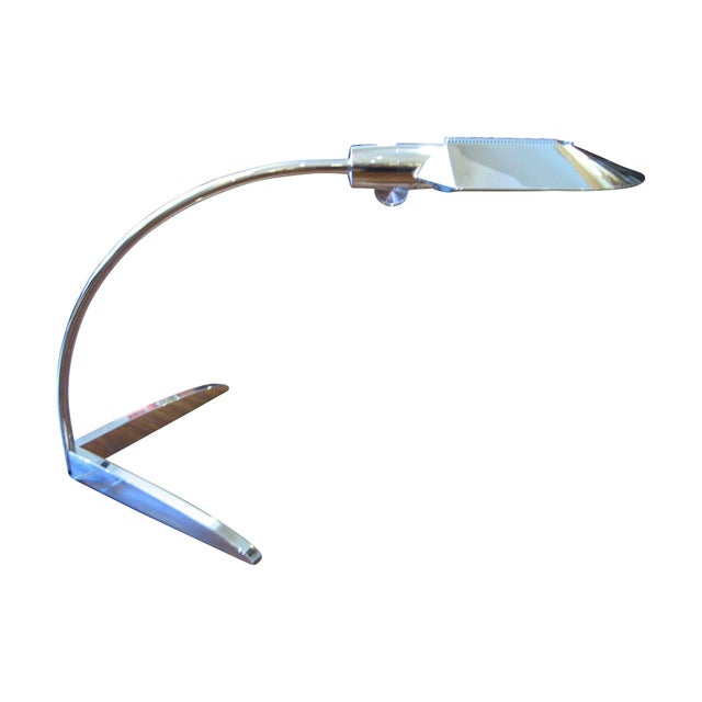 Cedric Hartman Nickel Desk Lamp For Sale