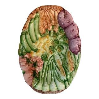 Italian San Marco Majolica Vegetable Platter For Sale