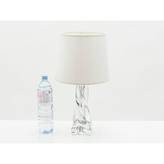 Mid-Century Modern Jean Daum French Crystal Table Lamp 1960s For Sale - Image 3 of 6