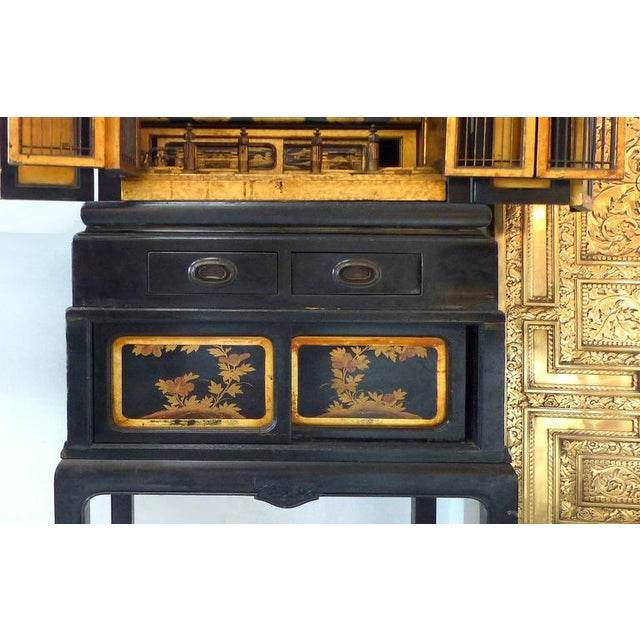 Asian Turn of the Century Monumental Japanese Buddhist Temple on Stand For Sale - Image 3 of 11