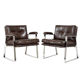 Pair of Vintage Mid-Century Modern-style Lounge Chairs