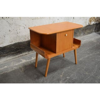 Swedish Mid-Century Golden Elm Side Table Preview