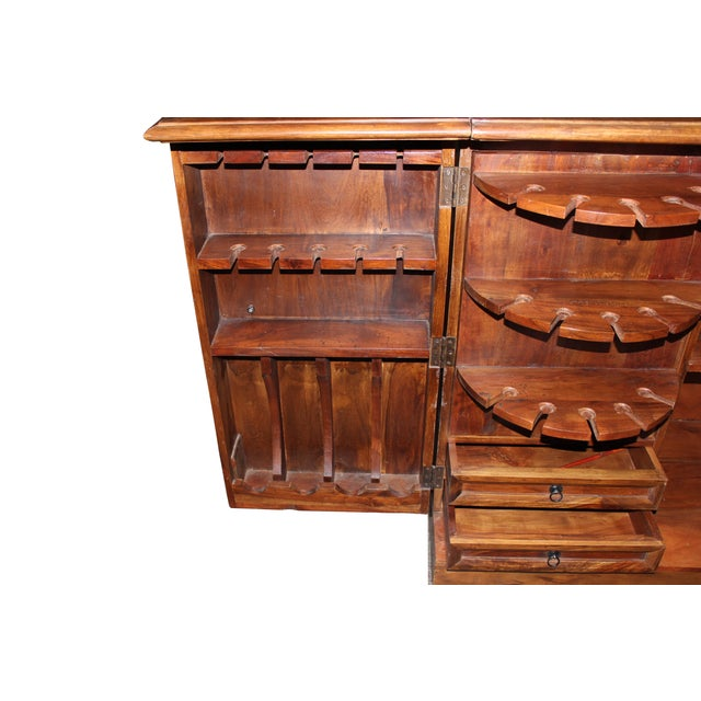 Wood Mango Wood Bar Cabinet For Sale - Image 7 of 10