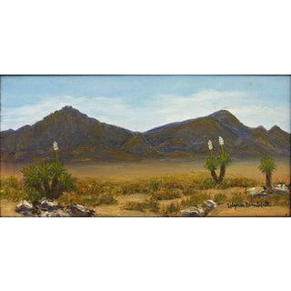 Lilyan Lamberth Southwestern Desert Springtime Vintage Oil Painting on Canvas For Sale