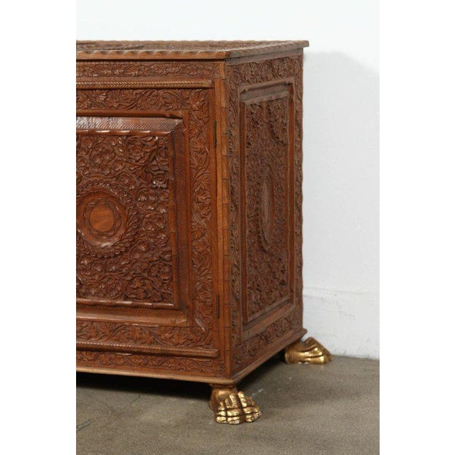 Wood Asian Finely Hand-Carved Sideboard From Java, Indonesia For Sale - Image 7 of 10