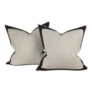 Pindler & Pindler Chenille Pillows - a Pair For Sale