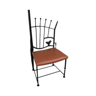 j.w. Zan Hand Forged Reclaimed Iron Shotgun Chair For Sale