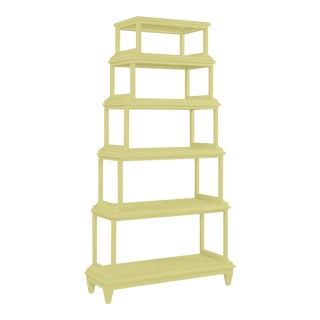 Jules Etagere in Pale Avocado For Sale