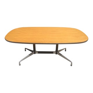Mid-Century Modern Eames Aluminum Group Dining or Conference Table For Sale
