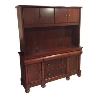 Solid Wood Hutch & Credenza - A Pair