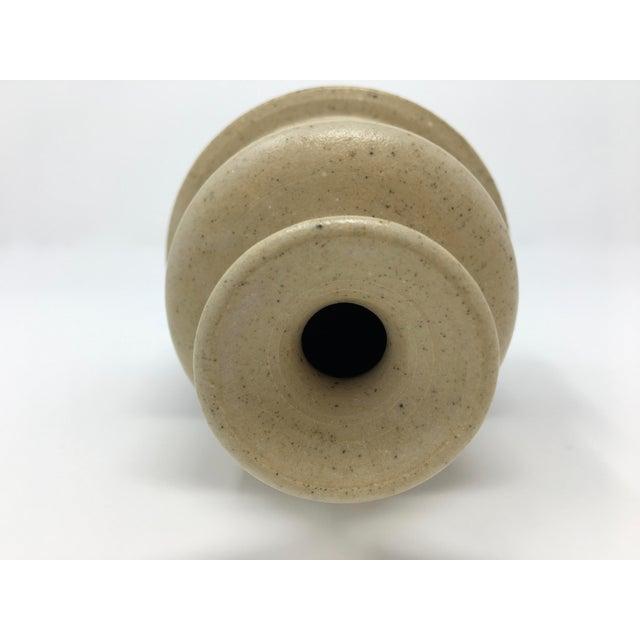 Vintage Mid-Century Ceramic Earth Tone Vase For Sale - Image 9 of 11