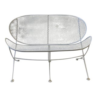 White Lacquer Outdoor Settee Sofa by Maurizio Tempestini for Salterini
