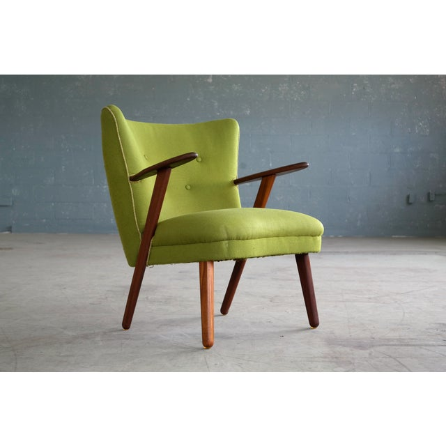 Danish Mid-Century Easy Chair in the Style of Madsen and Schubel - Image 4 of 9