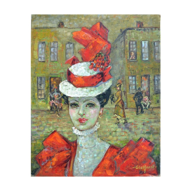 Gleiforst Persian Woman With Red Hatt For Sale