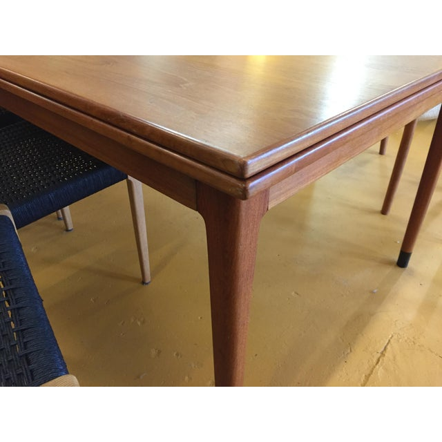 Large Teak Draw Leaf Dining Table by Niels Otto Møller for Jl Møller, Made in Denmark For Sale - Image 11 of 13