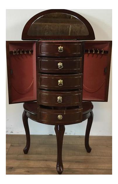 Antique Mahogany Jewelry Armoire Chairish