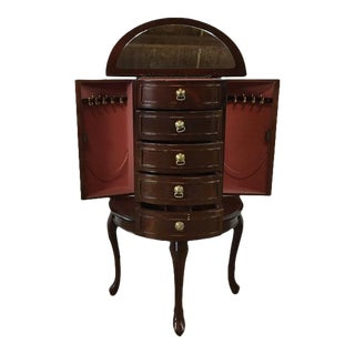 Antique Mahogany Jewelry Armoire
