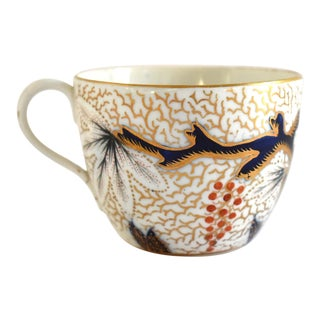 "Antique Georgian C. 1810 New Hall Staffordshire Porcelain ""Vine"" Pattern Teacup For Sale"
