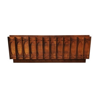 1970s Brutalist Tobago Walnut Credenza For Sale