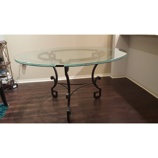 Circular Glass Dining Table - Image 4 of 4