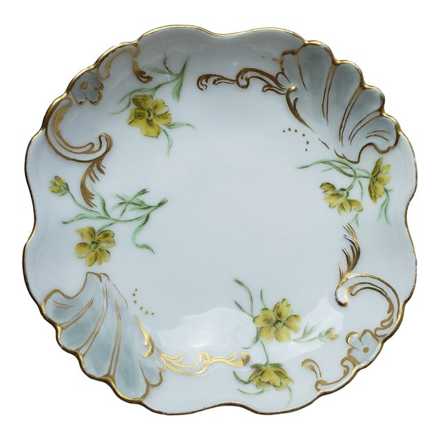 Jean Pouyat Limoges Porcelain Trinket Dish For Sale