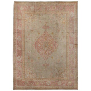 1920s Swedish Rug With Traditional Style and Medallion Design - 9′7″ × 13′ For Sale