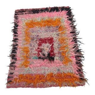 Vintage Turkish Wool Rug For Sale