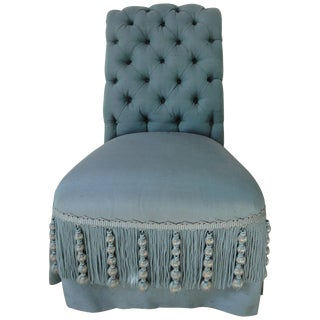 Late 19th Century Napoleon III Tufted Back Chair For Sale
