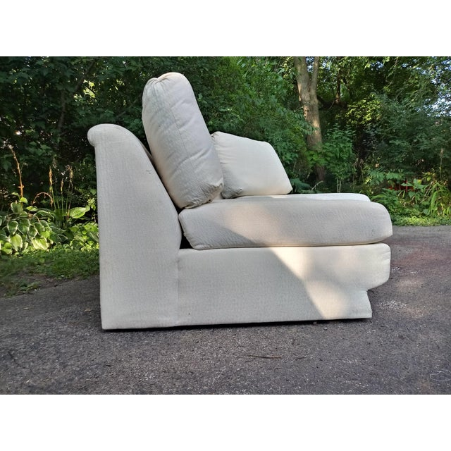 Contemporary 1980s Vintage Thayer Coggin Slipper Chairs - a Pair For Sale - Image 3 of 7