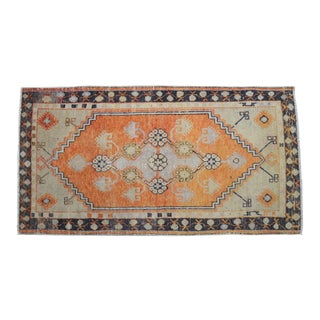 Vintage Turkish Hand Knotted Area Rug - 2′7″ × 4′11″ For Sale