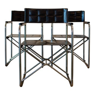 Vintage Mid-Century Bauhaus-Style Folding X Chairs For Sale