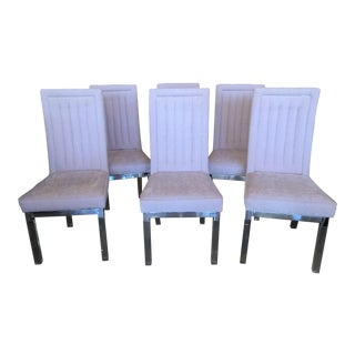 Charles Hollis Jones Lucite Dining Chairs - Set of 6 For Sale