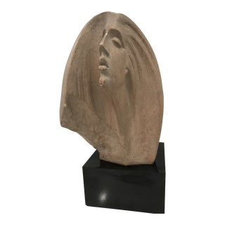 1980s Austin Prod Inc Female Bust Sculpture For Sale