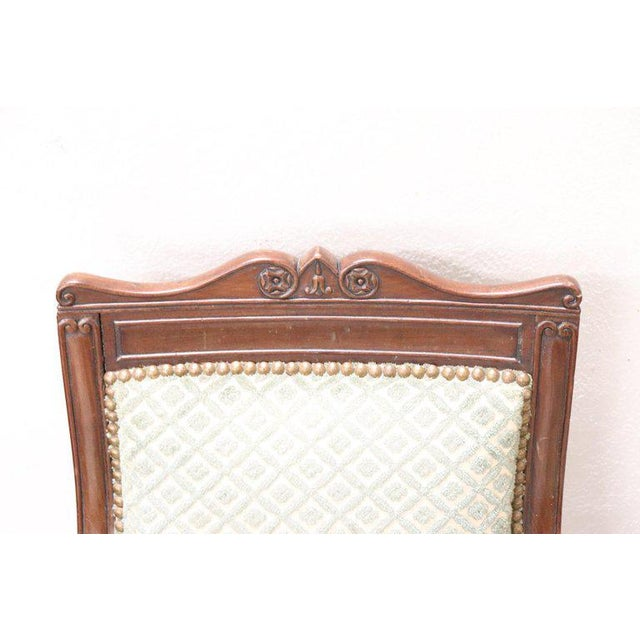 Italian 19th Century Italian Carved Mahogany Charles X Six Chairs For Sale - Image 3 of 13