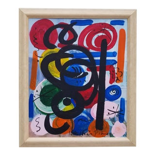 1970s Vintage Piter Keil Abstract Painting For Sale