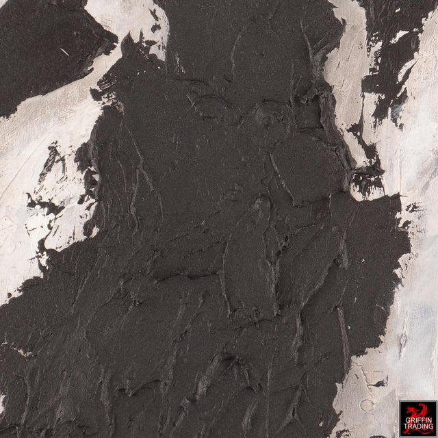 Black Matter Textured Abstract Painting For Sale In Dallas - Image 6 of 8