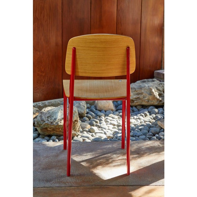 Late 20th Century Wood and Metal Chairs in the Style of Jean Prouvé- Set of 4 For Sale - Image 9 of 13