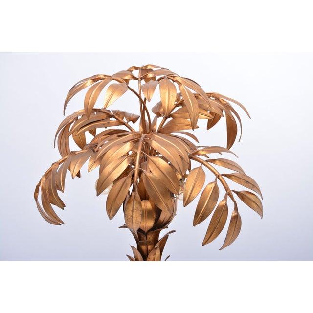 Huge Vintage Golden Palm Tree Floor Lamp by Hans Kögl, 1980s For Sale - Image 9 of 11