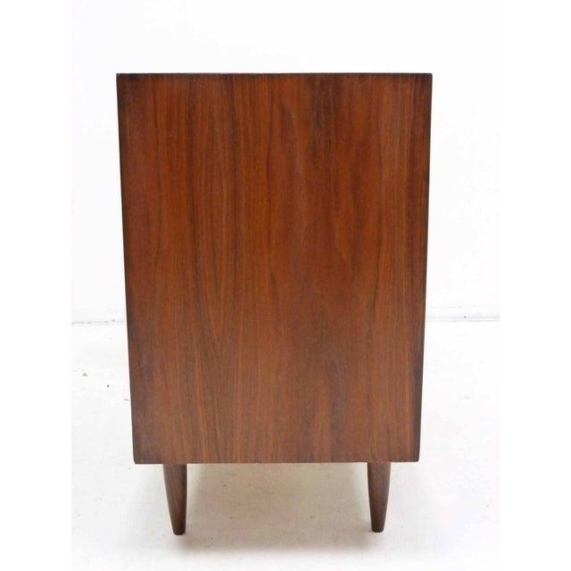 Walnut Three-Drawer Bachelor Dresser Chest - Image 6 of 10