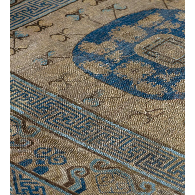 Persian Mid 19th Century Handwoven Wool Khotan Rug For Sale - Image 3 of 5