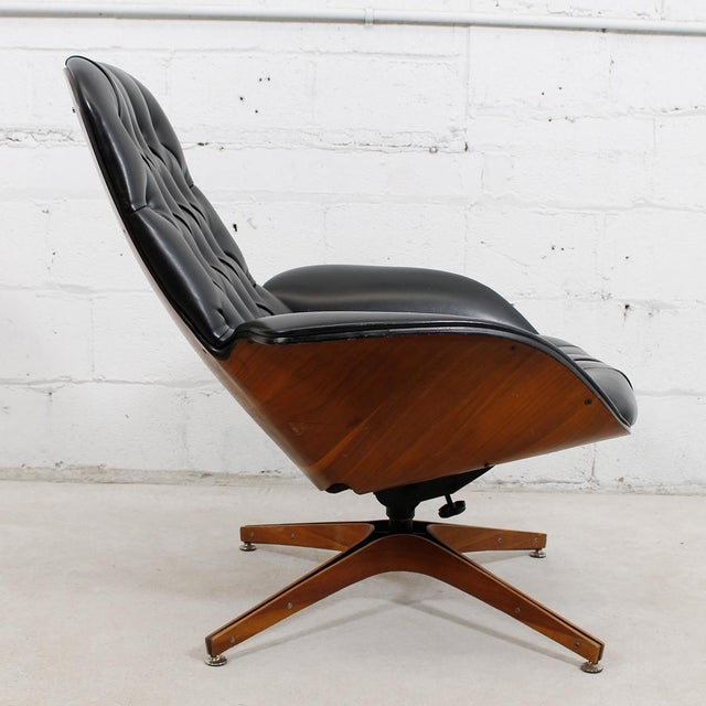 MCM Mulhauser Molded Wood Lounge Chair & Ottoman - Image 7 of 10