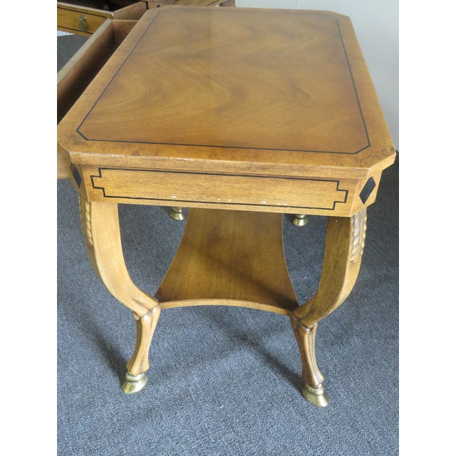 Pair of Regency Style End Tables For Sale - Image 9 of 13