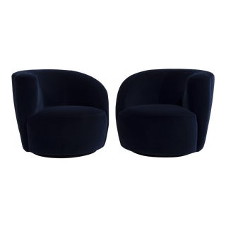 A Pair of Vladimir Kagan designed Nautilus Swivel Chairs 1990s