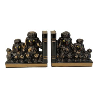 Mid-Century French Poodle Bookends - A Pair For Sale