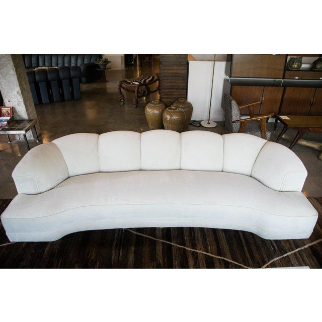 Designed by Edward Wormley, renowned midcentury American designer and furniture historian, for Dunbar. This curvaceous...