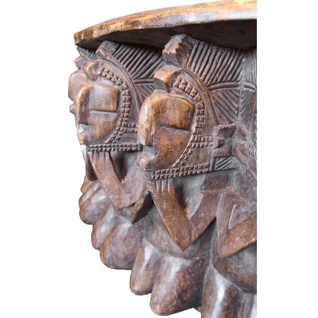 Antique Large Baga Chief Stool For Sale - Image 4 of 9